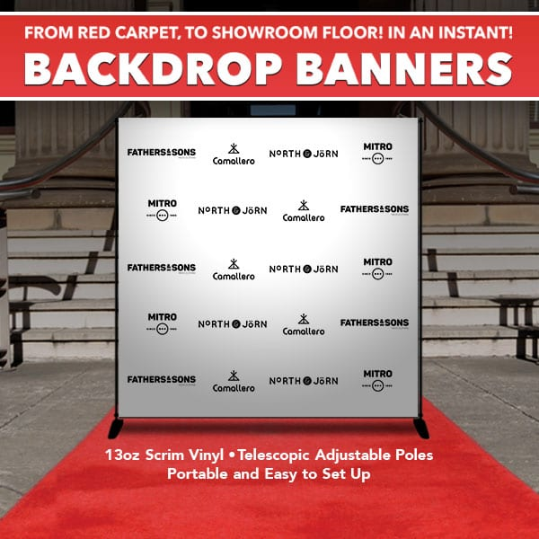 Backdrop Banner Stands - Step and Repeat - Bright Print Works