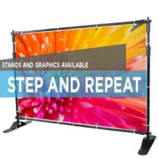 Backdrop Stand w/ Banner - Step and Repeat Banner