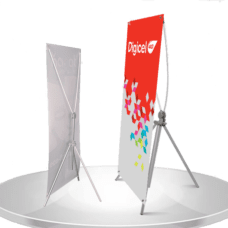 X-Frame Banner w/Stand at Bright Print Works
