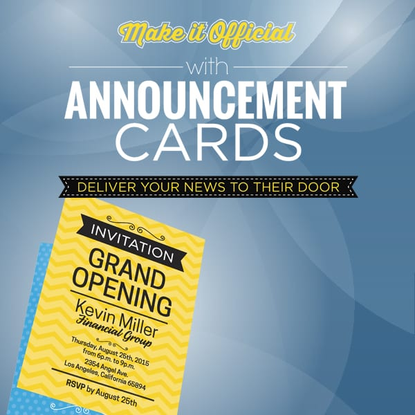 Announcement Card - Bright Print Works