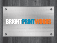 Aluminum PVC Signage by Bright Print Works