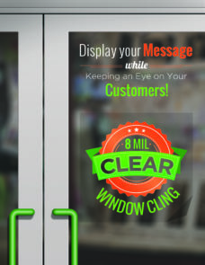 Window Clings - Clear - Bright Print Works